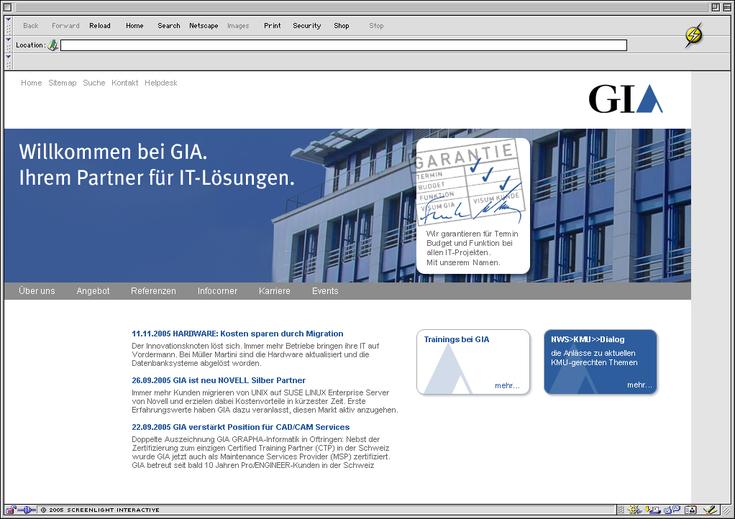 Corporate Website - Corporate Website mit klarer Linie